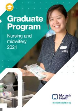 Graduate Program Nursing and midwifery 2021 - monashhealth.org