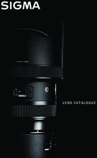 Sigma Lens Catalogue 2018