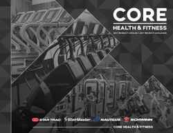 CORE Health & Fitness 2017 Product Catalogue