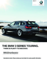 THE BMW SERIES TOURING. - THERE IS PLENTY TO DISCOVER.