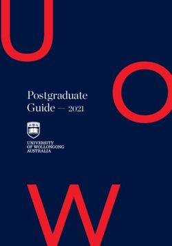 Postgraduate Guide 2021 - UNIVERSITY OF WOLLONGONG AUSTRALIA