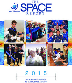 The Space Foundation Report. The Authoritative Guide To Global Space Activity 2015.