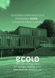 ELECTIONS COMMUNALES 2018 PROGRAMME