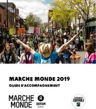 Marche Monde 2019 - Guide d'accompagnement