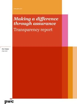Making a difference through assurance Transparency report