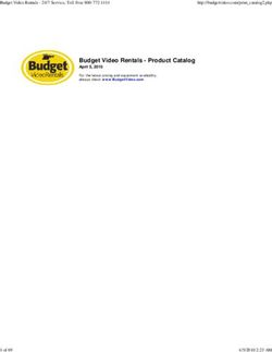Budget Video Rentals - Product Catalog