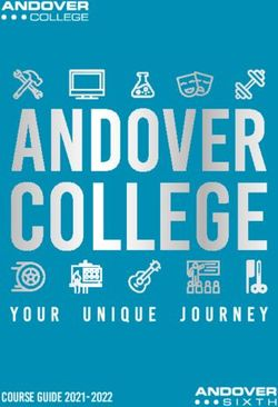 ANDOVER COLLEGE - COURSE GUIDE 2021-2022