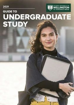 2021 GUIDE TO UNDERGRADUATE STUDY - VICTORIA UNIVERSITY OF WELLINGTON